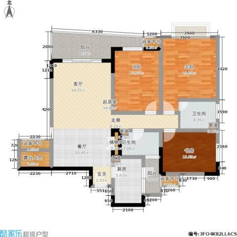 上海城二期3室0厅2卫1厨151.00㎡户型图
