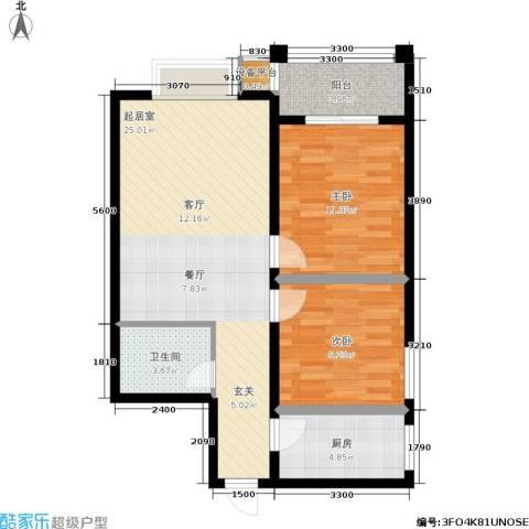 黄金屋2室0厅1卫1厨80.00㎡户型图