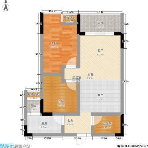 华府春城2室0厅1卫1厨65.00㎡户型图