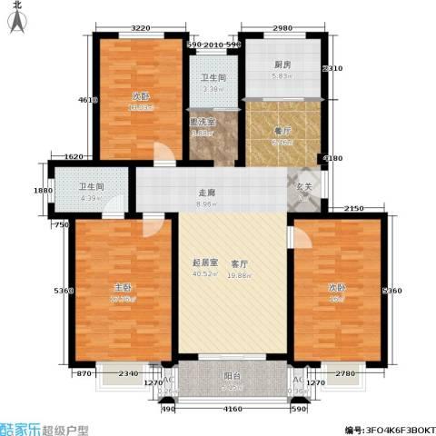 桃园山庄3室0厅2卫1厨122.00㎡户型图