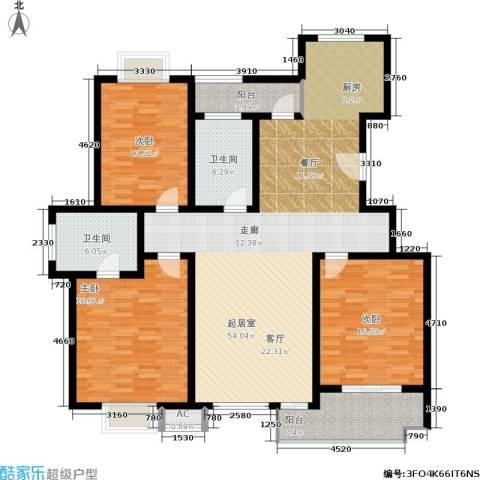 桃园山庄3室0厅2卫0厨144.00㎡户型图