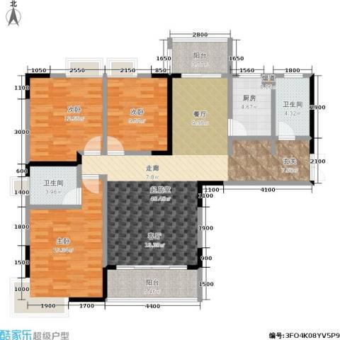天健芙蓉盛世3室0厅2卫1厨142.00㎡户型图