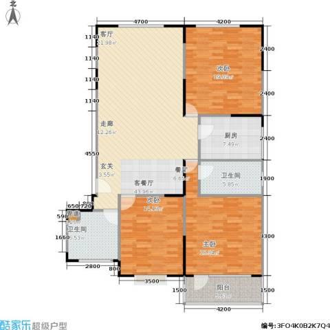 山大新苑3室1厅2卫1厨161.00㎡户型图