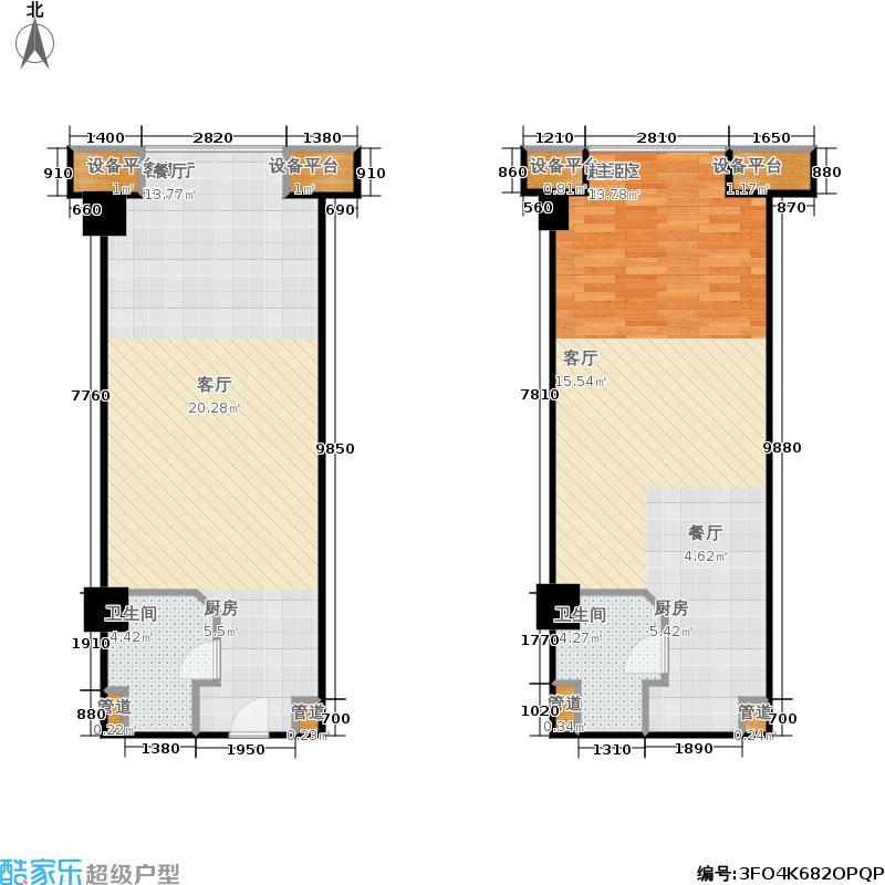 蠡湖国际公寓自住型户型1厅2卫