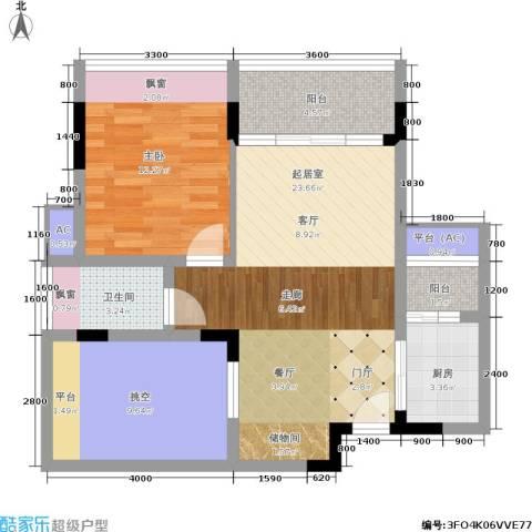 碧河花园1室0厅1卫1厨88.00㎡户型图