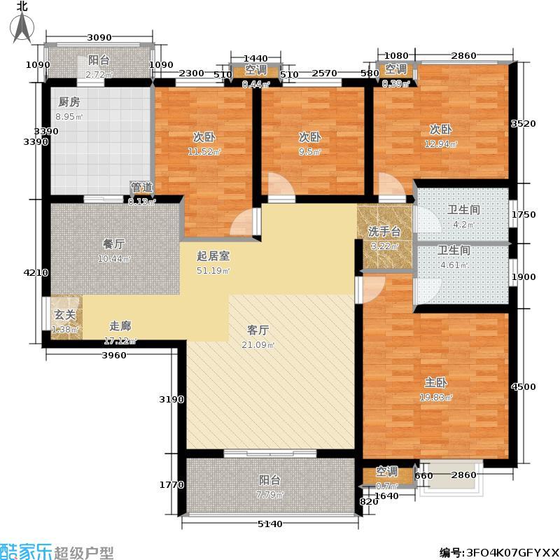 锦绣泉城户型4室2卫1厨