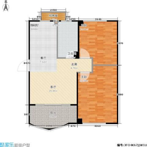 蠡湖香榭2室1厅1卫0厨96.00㎡户型图