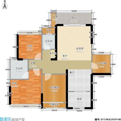 双水湾2室0厅2卫1厨108.00㎡户型图