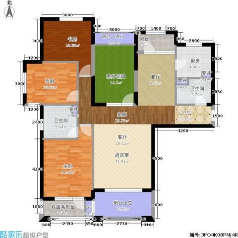 中海华庭3室0厅2卫1厨140.00㎡户型图