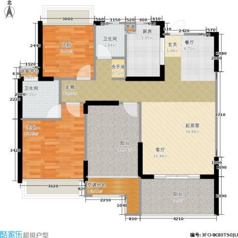 双水湾2室0厅2卫1厨106.00㎡户型图
