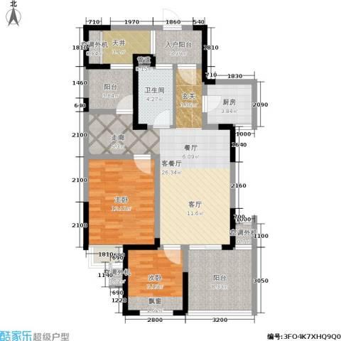 圣都大厦2室1厅1卫1厨88.57㎡户型图