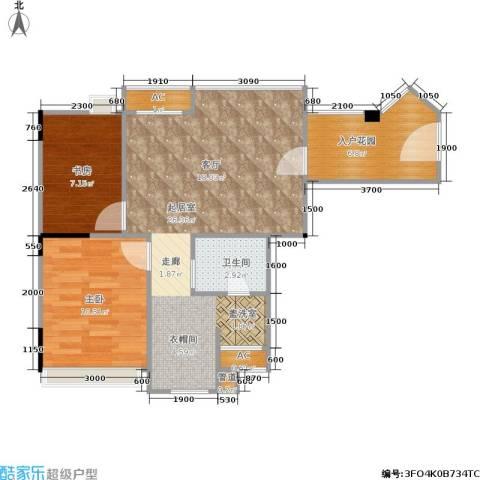 秋实大厦2室0厅1卫0厨76.00㎡户型图