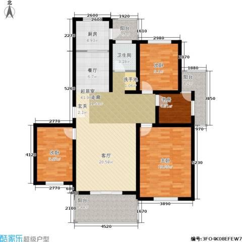 香榭俪都4室0厅1卫1厨122.00㎡户型图