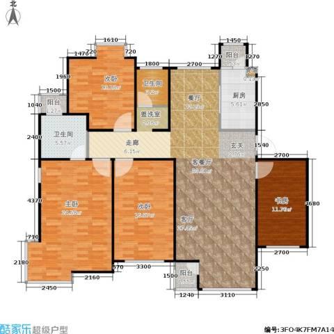 中冶东山庭院4室1厅2卫1厨162.00㎡户型图