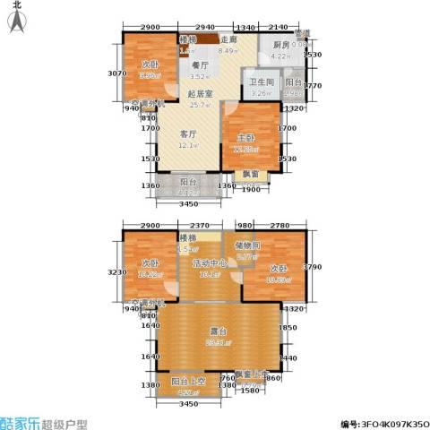 �泰华秀苑4室0厅1卫1厨134.00㎡户型图