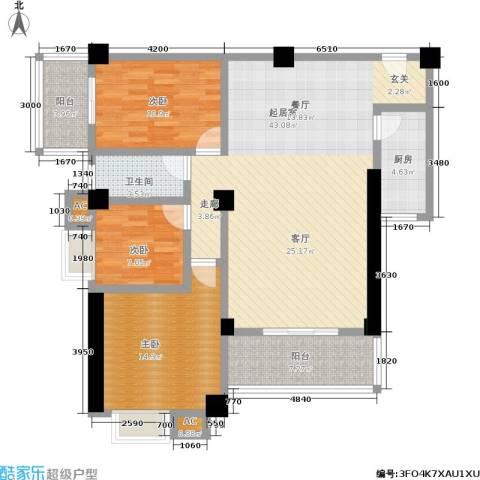 雪梨星光三期3室0厅1卫1厨142.00㎡户型图