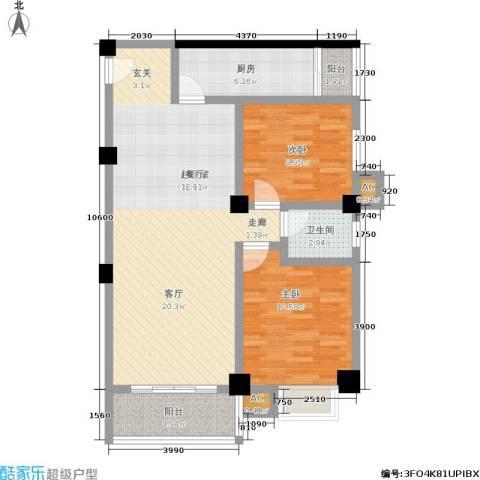 雪梨星光三期2室0厅1卫1厨110.00㎡户型图
