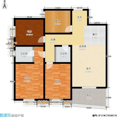 唐南香榭3室0厅2卫1厨142.00㎡户型图