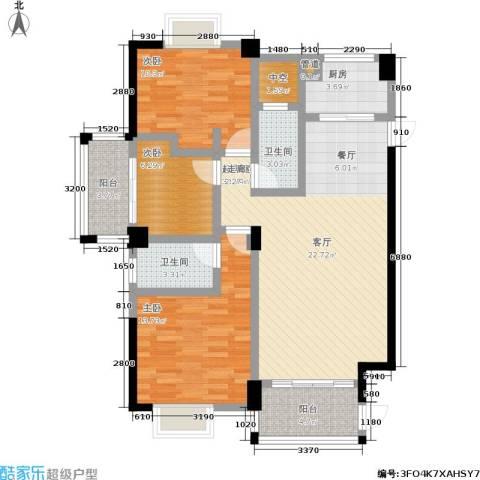 金尚首府3室0厅2卫1厨121.00㎡户型图