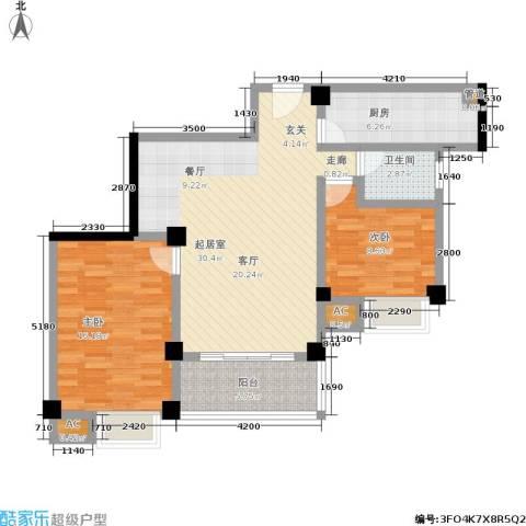 雪梨星光三期2室0厅1卫1厨104.00㎡户型图