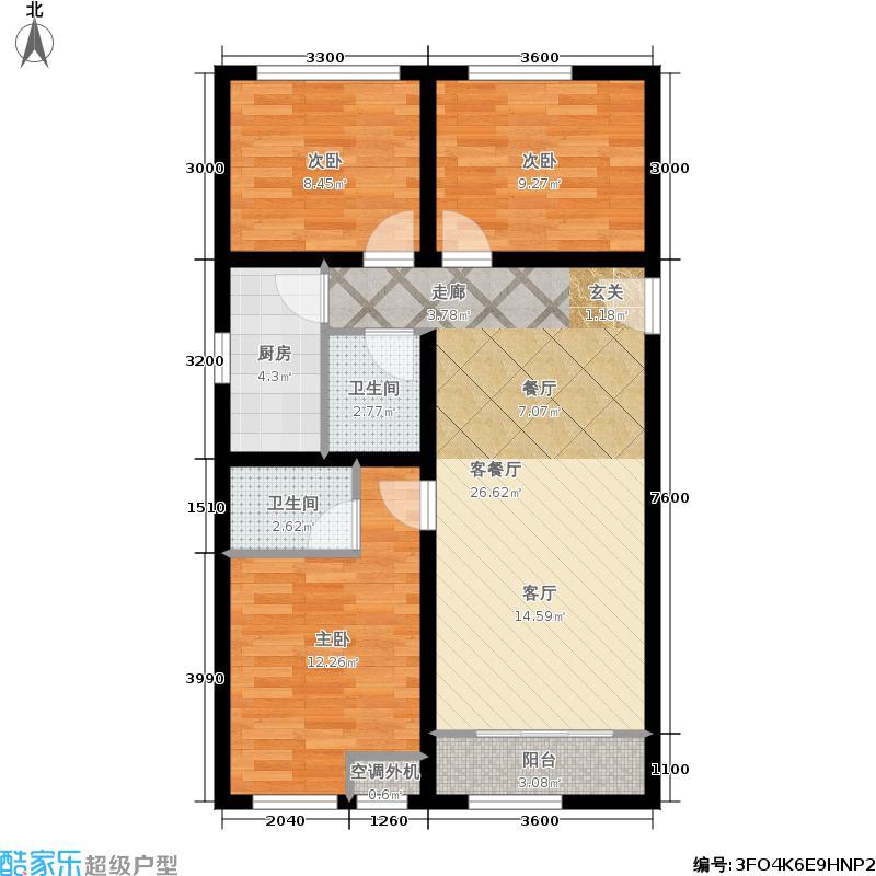 三千渡三千渡三室两厅两卫户型3室2厅2卫