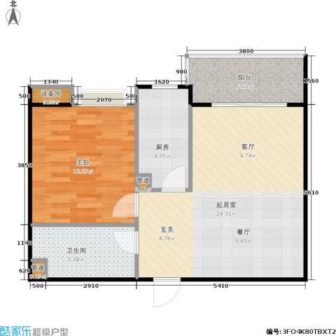 南峰时代广场1室0厅1卫1厨71.00㎡户型图