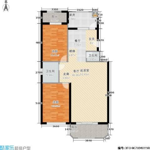 荷兰庄园2室0厅2卫1厨107.93㎡户型图