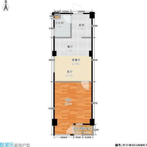 立方寓1室1厅1卫0厨64.00㎡户型图
