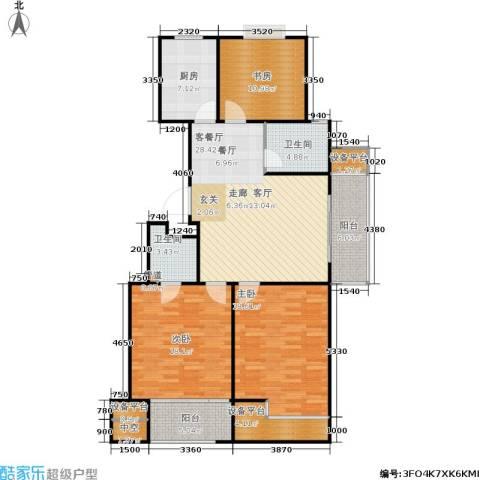 锡春华庭3室1厅2卫1厨149.00㎡户型图