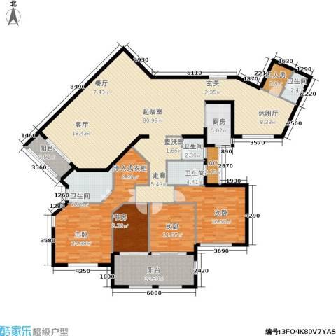 融汇江山4室0厅4卫1厨256.00㎡户型图