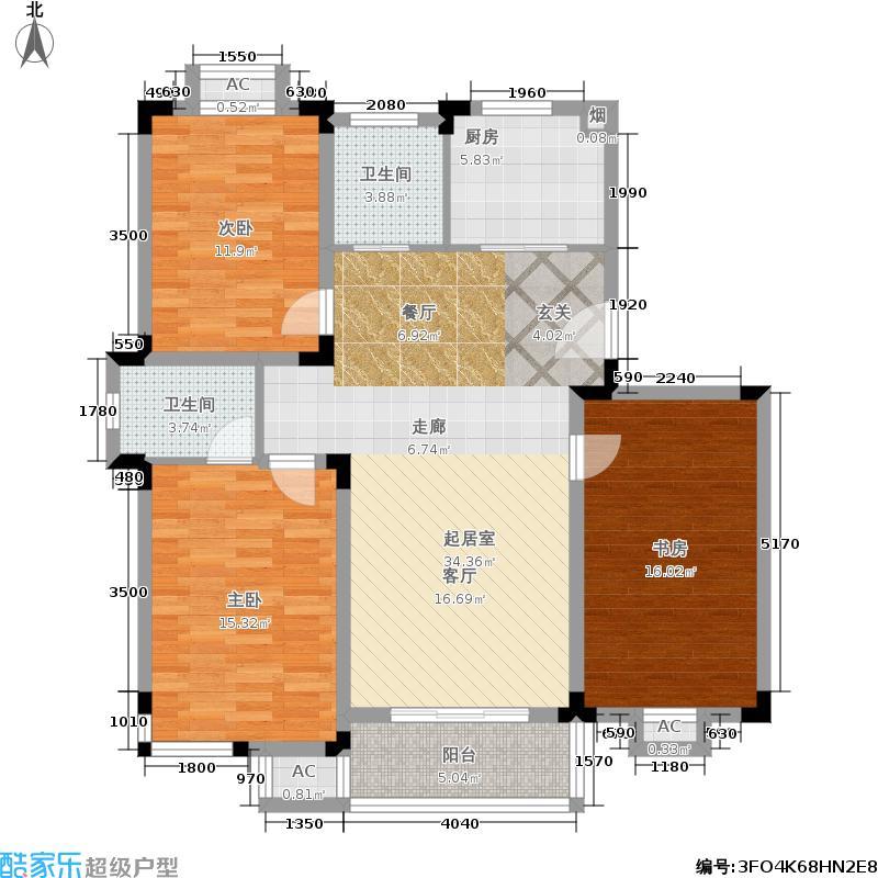 康顺园山庄111.60㎡D户型3室2厅2卫