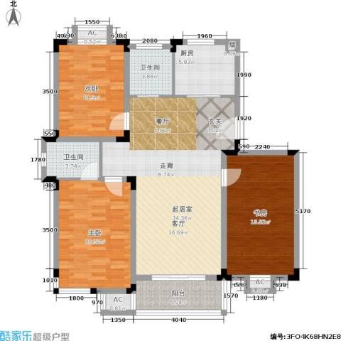 桃园山庄3室0厅2卫1厨112.00㎡户型图