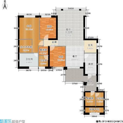 中骏天峰3室0厅3卫1厨192.00㎡户型图