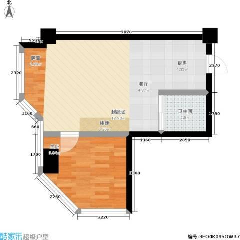 环宇品阁1室0厅1卫0厨45.00㎡户型图