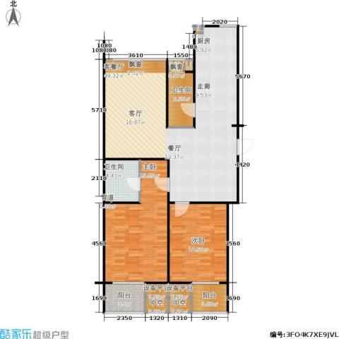 锡春华庭2室1厅2卫0厨140.00㎡户型图