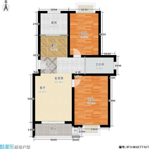 桃园山庄2室0厅1卫1厨92.00㎡户型图