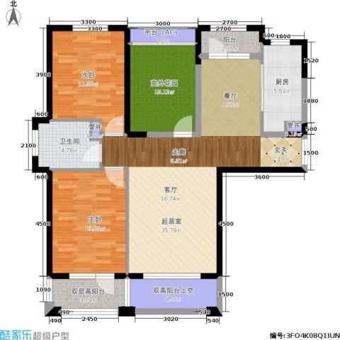 中海华庭2室0厅1卫1厨114.00㎡户型图