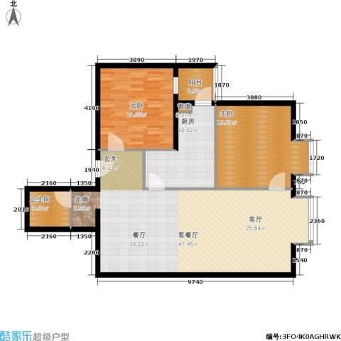 北京上舍2室1厅1卫1厨105.00㎡户型图