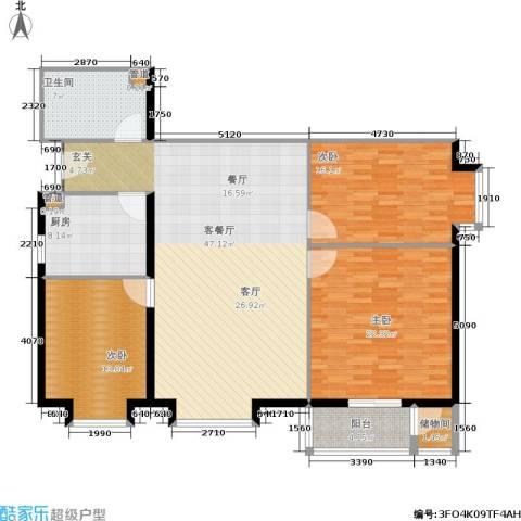 北京上舍3室1厅1卫1厨132.00㎡户型图