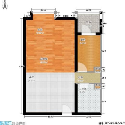 北京上舍1卫1厨62.00㎡户型图