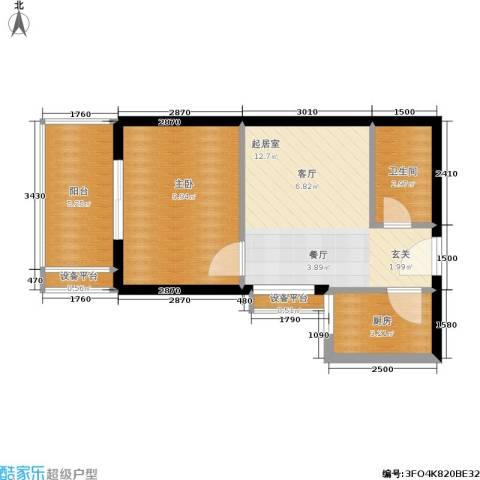 黄金屋1室0厅1卫1厨50.00㎡户型图