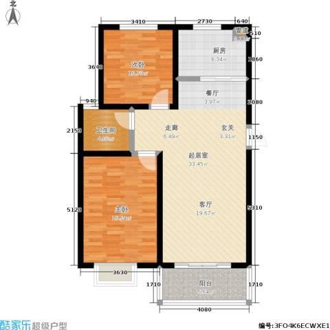安泰诚品2室0厅1卫1厨88.00㎡户型图
