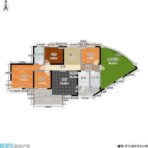 天健芙蓉盛世4室0厅2卫1厨186.00㎡户型图