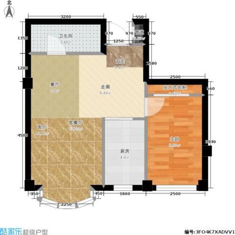 文华园1室1厅1卫1厨58.00㎡户型图