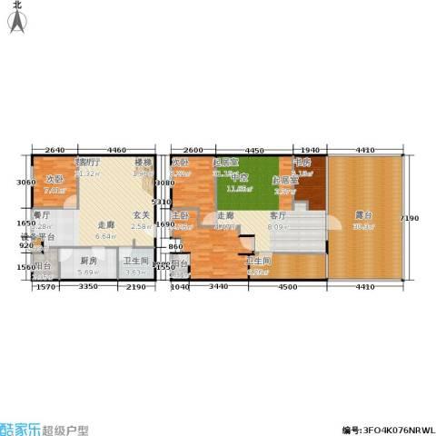 月半湾3室1厅2卫1厨147.00㎡户型图