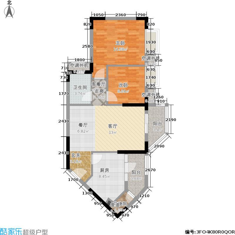 鼎盛时代广场户型2室1厅1卫1厨