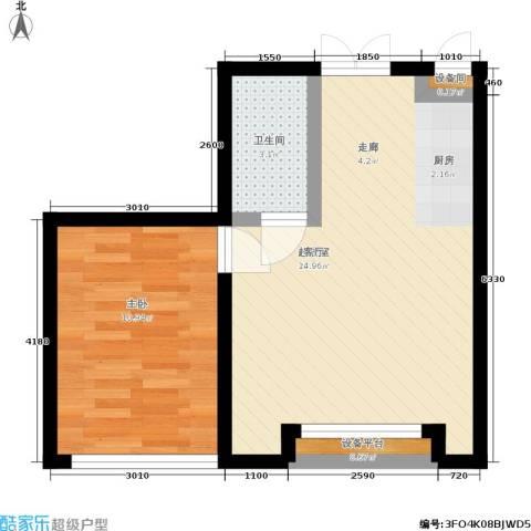东庭印象1室0厅1卫0厨53.00㎡户型图