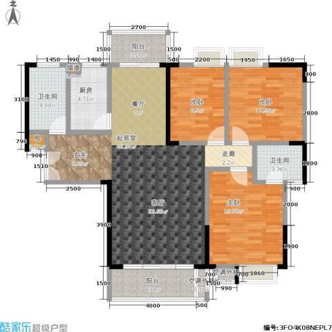 天健芙蓉盛世3室0厅2卫1厨139.00㎡户型图