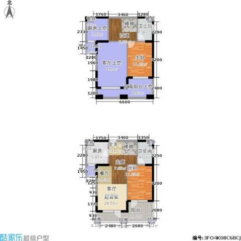 中海华庭2室0厅2卫1厨116.82㎡户型图