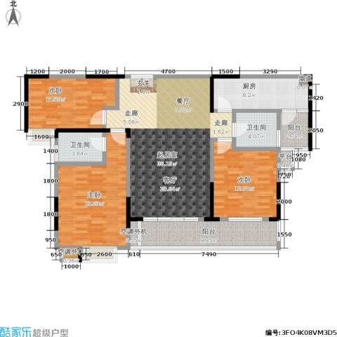 天健芙蓉盛世3室0厅2卫1厨155.00㎡户型图